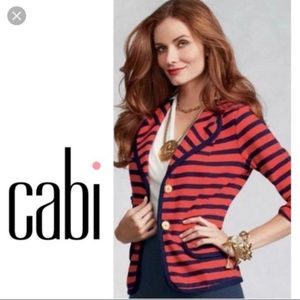CAbi 224 Blazer Yacht Club Stripe Nautical Jacket